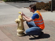 GIS Engineer at a fire hydrant
