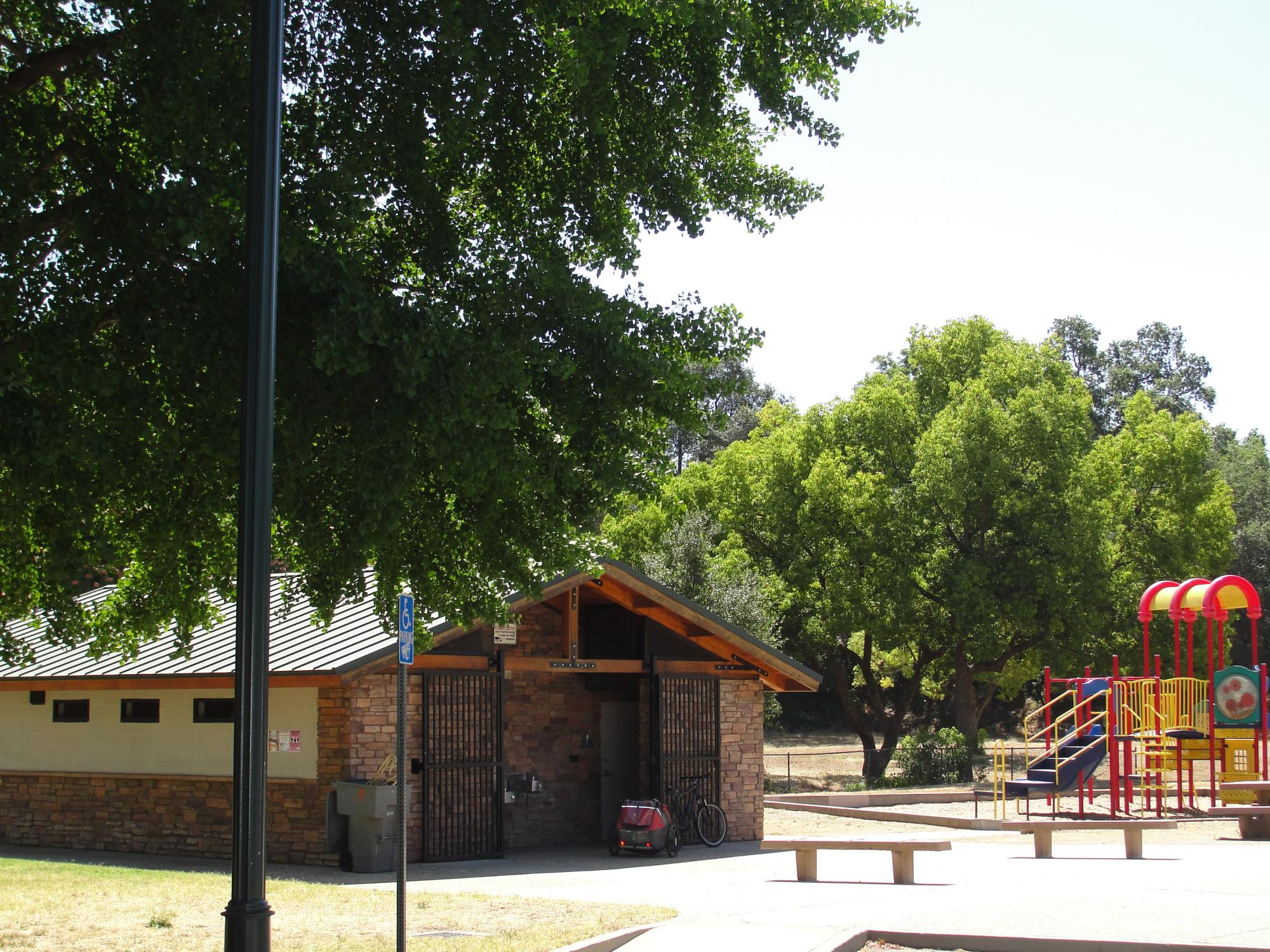 Hewitt Park Restrooms and playground